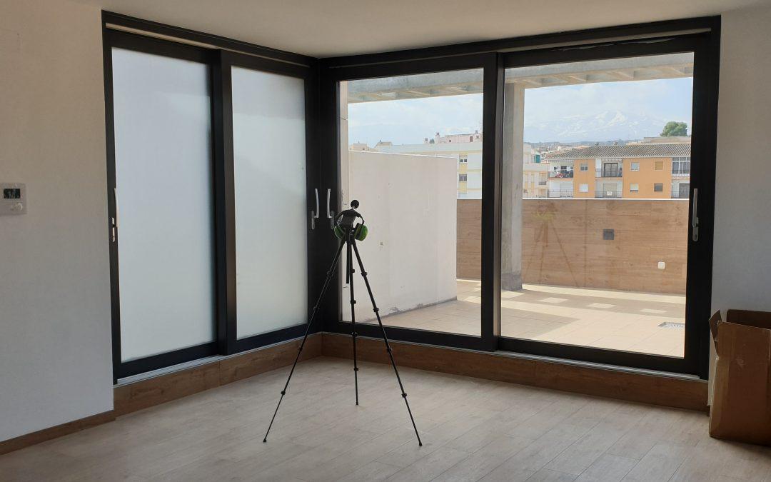 Mediciones acústicas en edificio de 2 viviendas, local y sótano en Guadix.